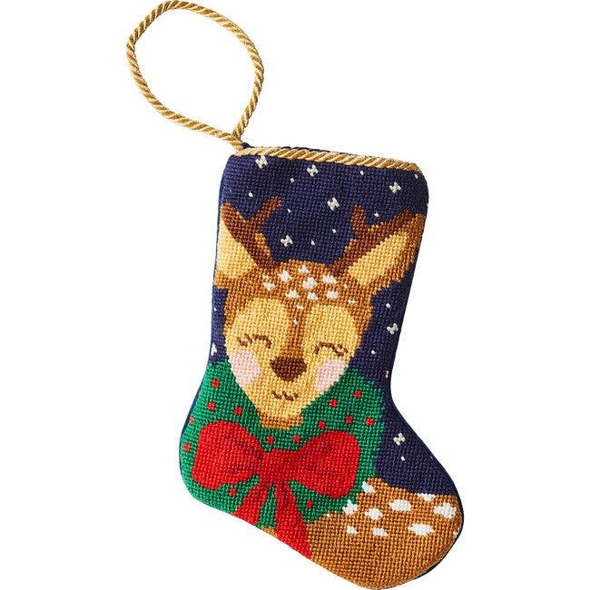 Mini Dasher the Fun Reindeer Stocking, Blue