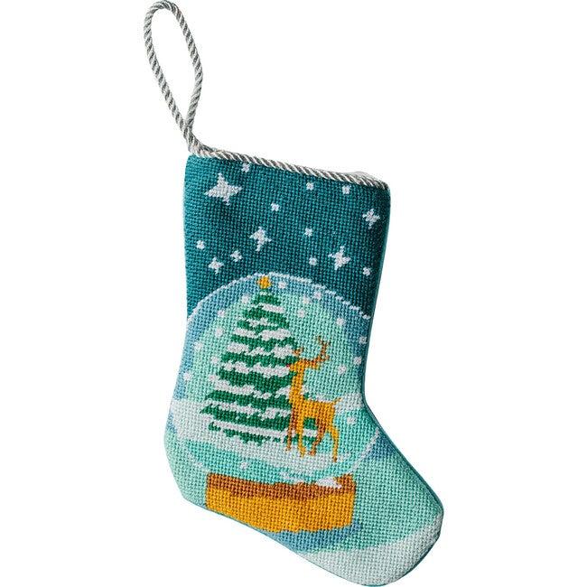 Mini Let It Snow Stocking, Turquoise