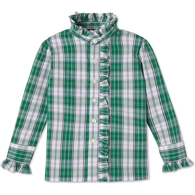 Ginny Ruffle Front Button Down, Mckinley Plaid