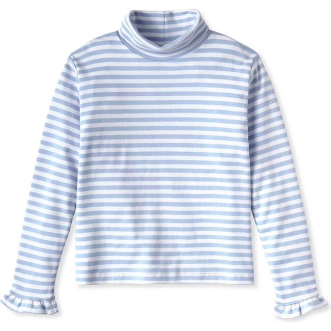 Eloise Turtleneck, Blue Bell with White