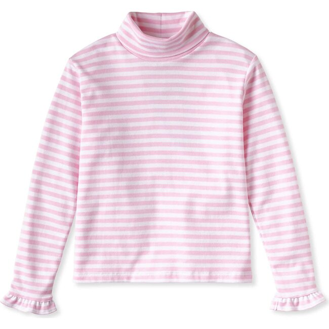 Eloise Turtleneck, Lilly's Pink with White