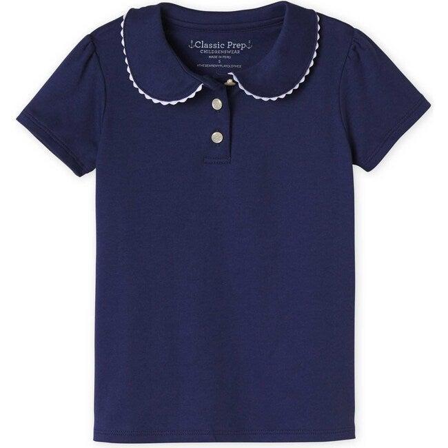 Short Sleeve Sarah Polo, Medieval Blue