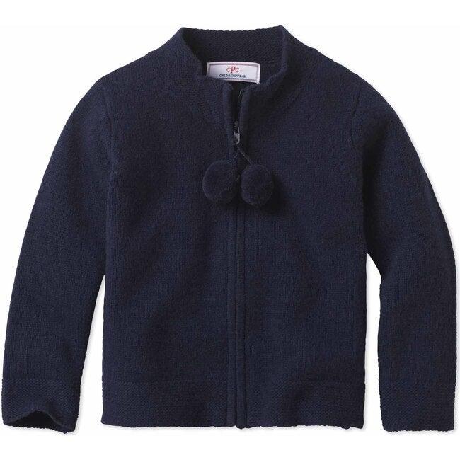 Pippa Pom Pom Sweater, Navy