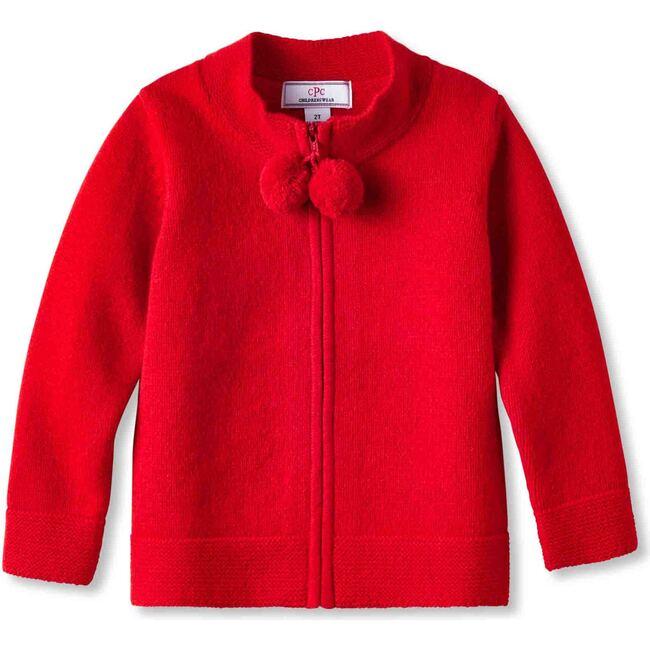 Pippa Pom Pom Sweater, Flame
