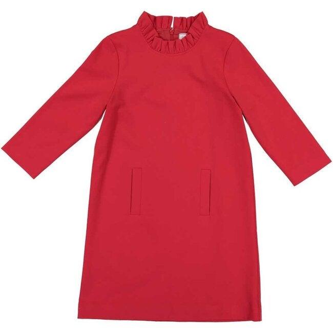 Claudia Dress, Lipstick Red - Dresses - 1