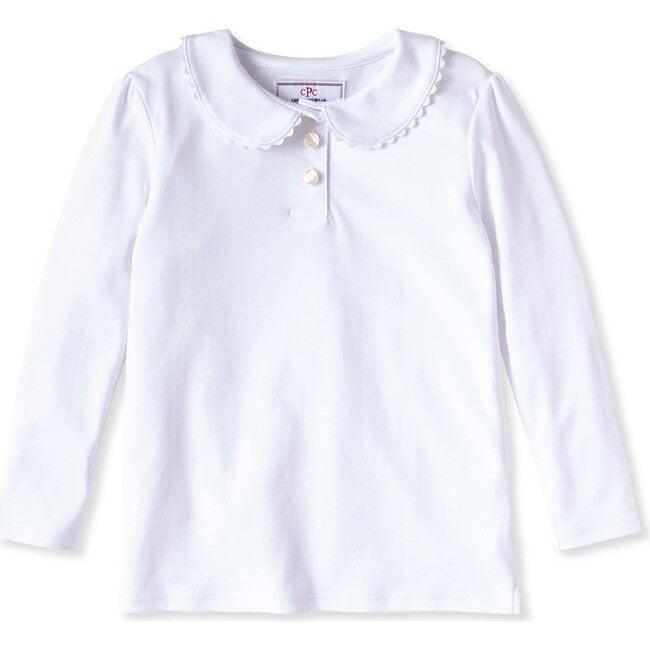 Long Sleeve Sarah Polo, Bright White