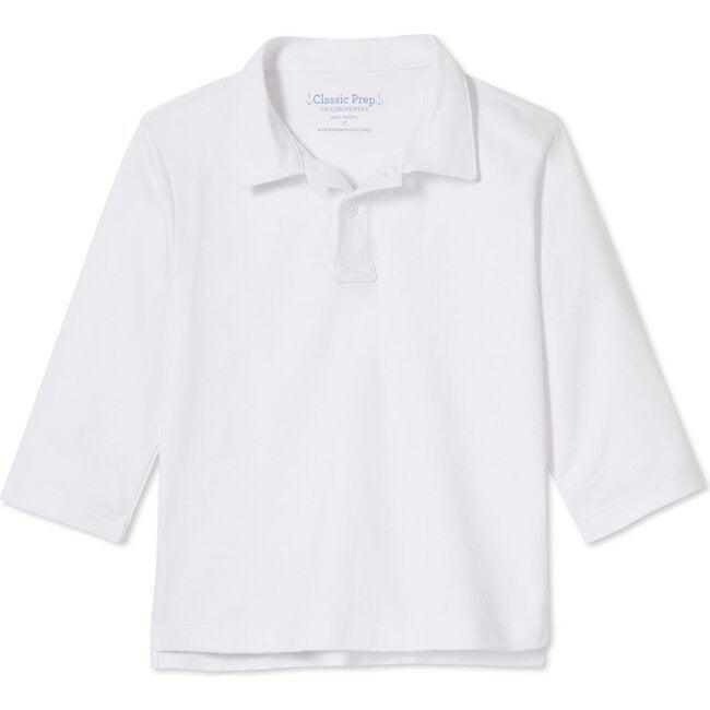 Long Sleeve Hayden Polo, Bright White