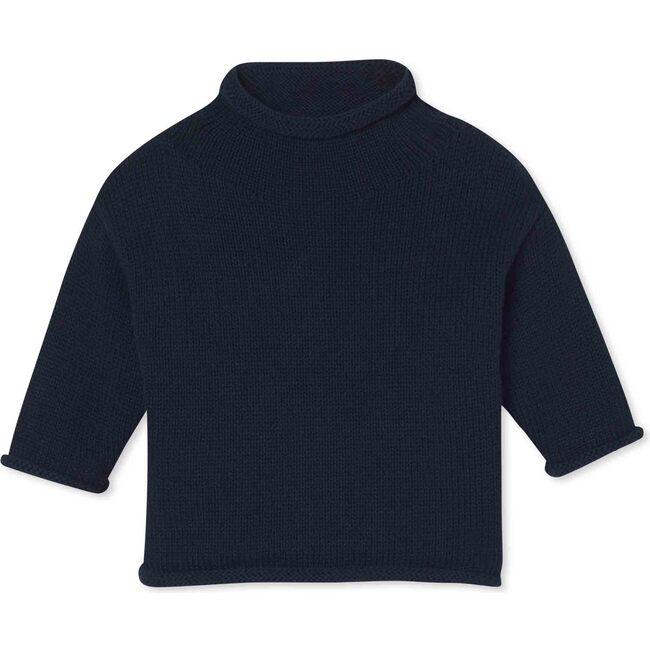 Fraser Roll Neck Sweater Solid, Medieval Blue