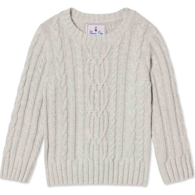 Fishers Cable Knit Sweater, Light Heather Grey