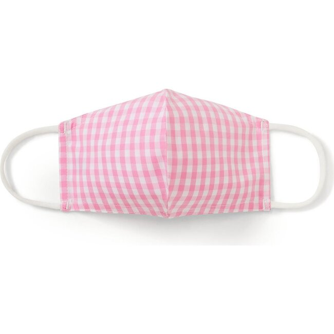 Kids Face Mask Classic Gingham, Candy Pink Gingham