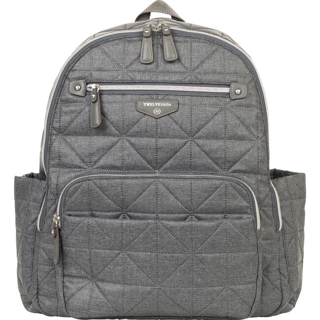 Quilted Companion Diaper Backpack, Grey