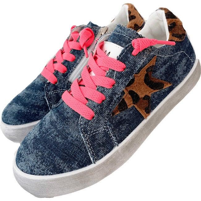 Denim Star Sneaker, Neon
