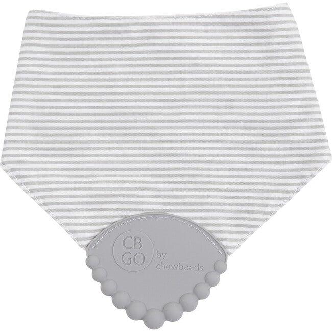 Drool Bib, Grey Stripe