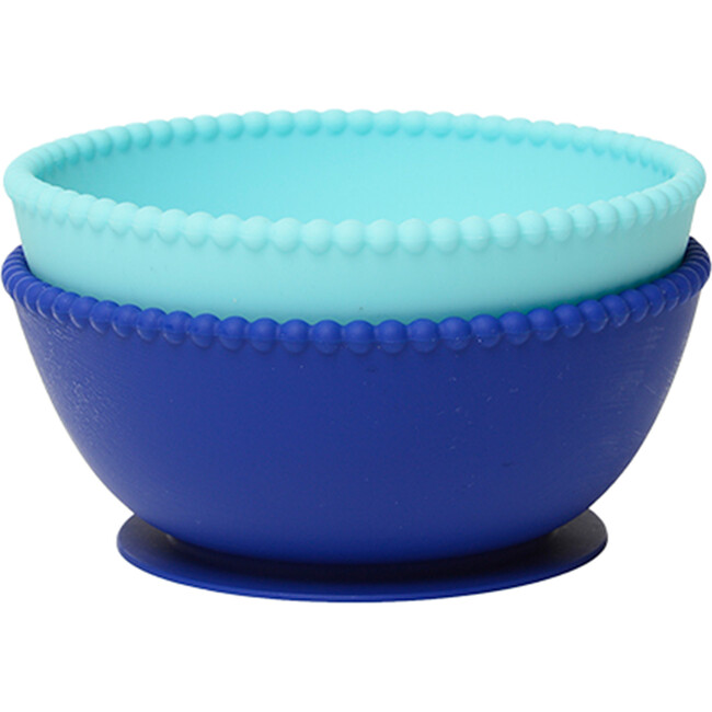 Silicone Suction Bowls, Turquoise/Cobalt - Tabletop - 1