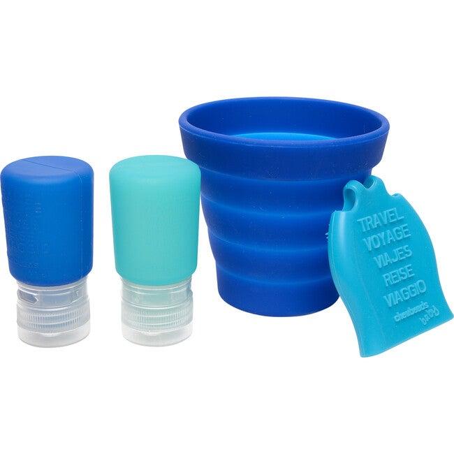 Tubby To Go Travel Bath Set, Blue - Bath Toys - 1