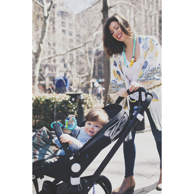 Gramercy Stroller/Car Seat Toy, Turquoise