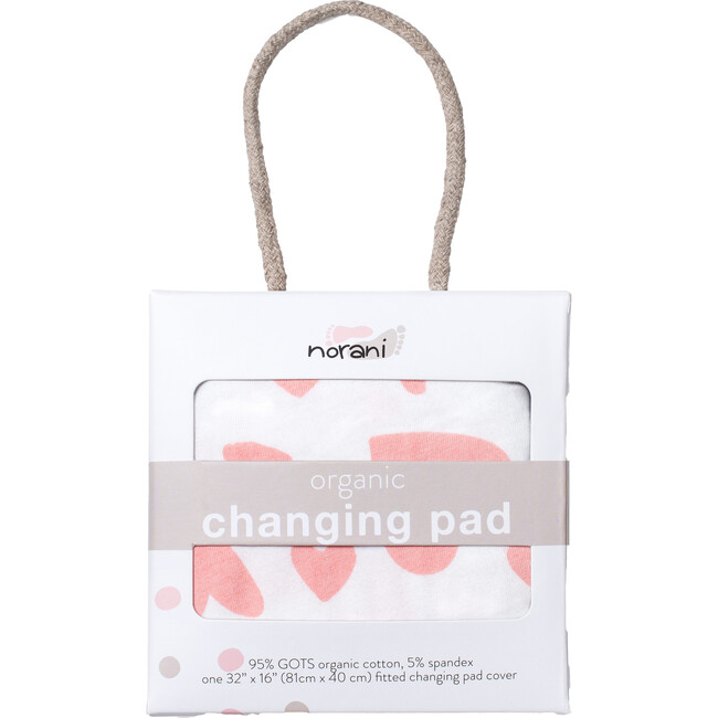 Norani Changing Pad Cover, Pink Hearts