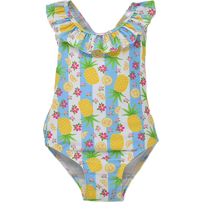 Mindy Crossback Swimsuit, Pineapple Passion