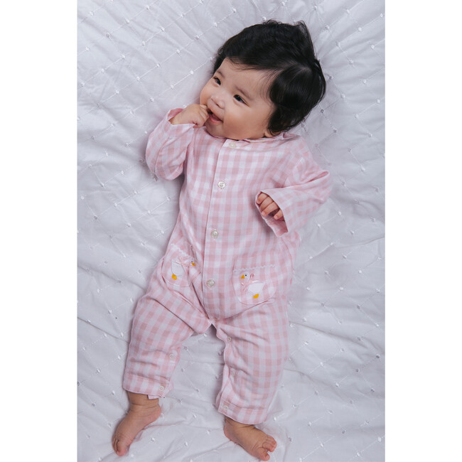 Freya All In One, Pale Pink Gingham