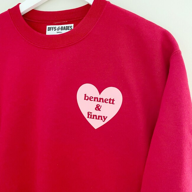 Adult Heart U Most Personalized Sweatshirt, Red