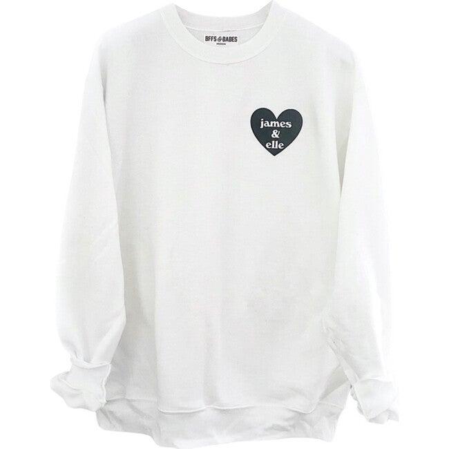 Adult Heart U Most Personalized Sweatshirt, White