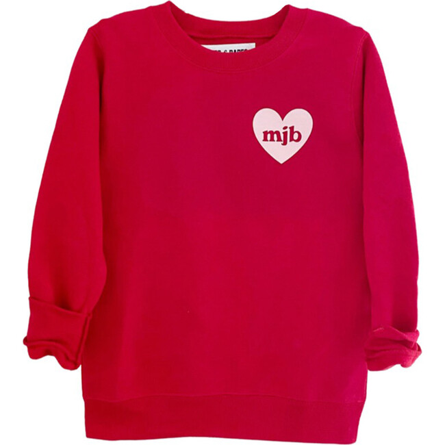 Heart U Most Personalized Youth Sweatshirt, Red