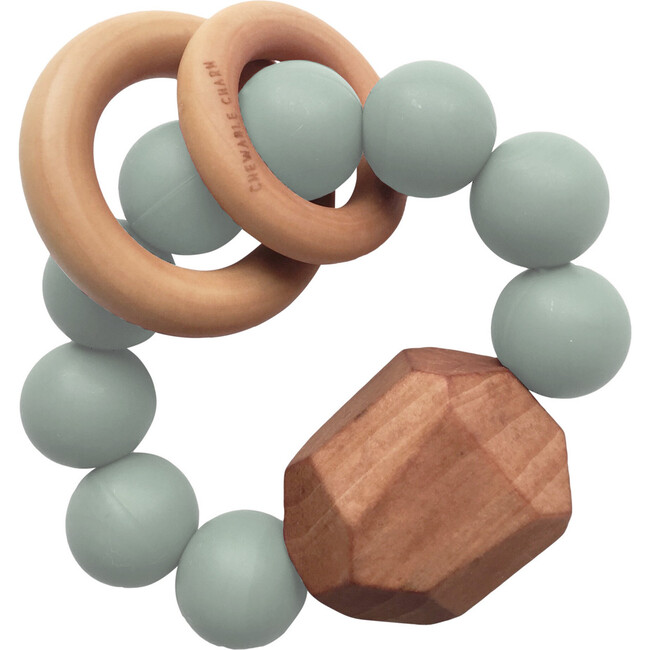 Hayes Silicone + Wood Teether, Succulent - Teethers - 1