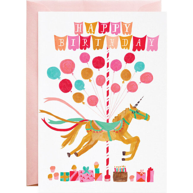 Is the Unicorn Coming to My Party? Birthday Card