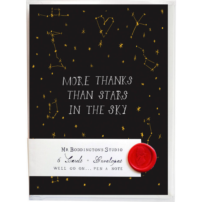Set of 6 Thank You Cards, Stars in the Sky
