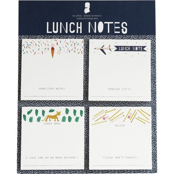 Set of 4 Notepads, Lunch Notes