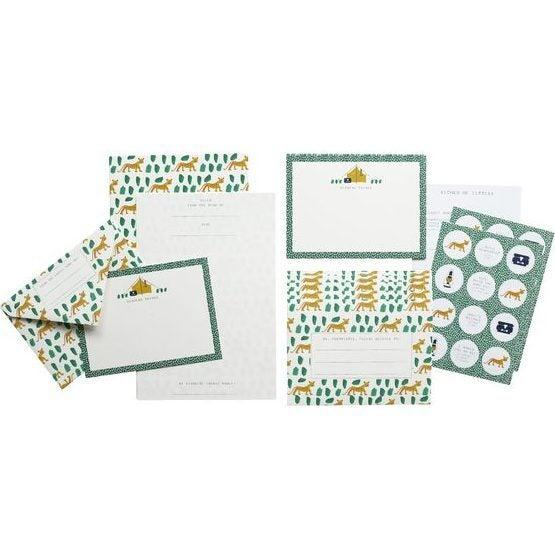 Letter Writing Set, Leopards