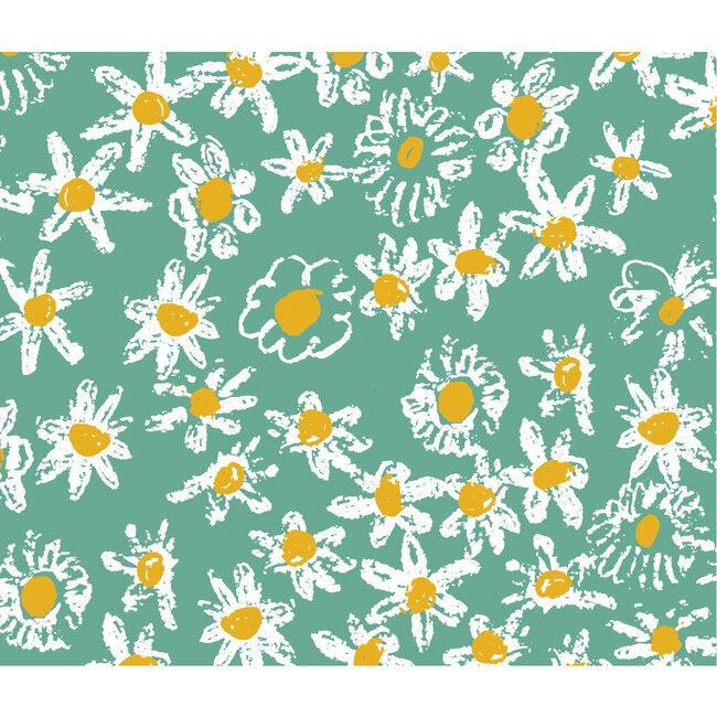 Green Daisy Fields Gift Wrap Set