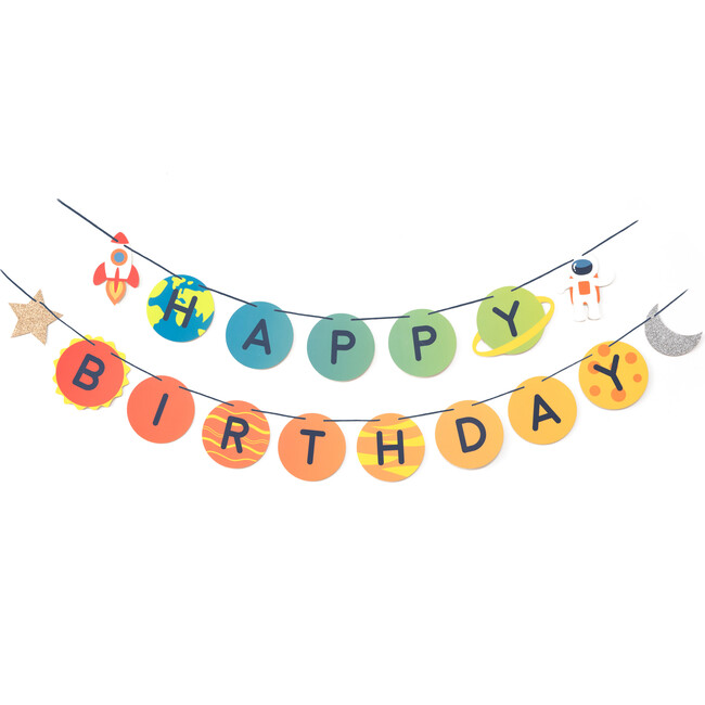 Trip To The Moon Birthday Banner
