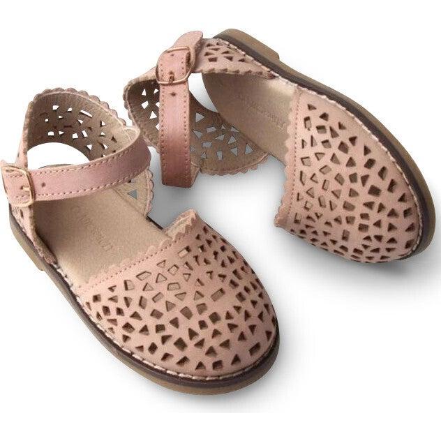 Leather Pocket Sandal, Rosewater