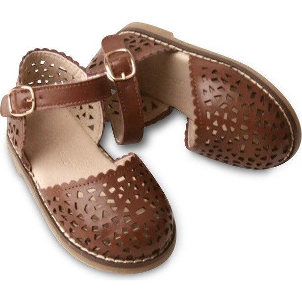 Leather Pocket Sandal, Hazelnut