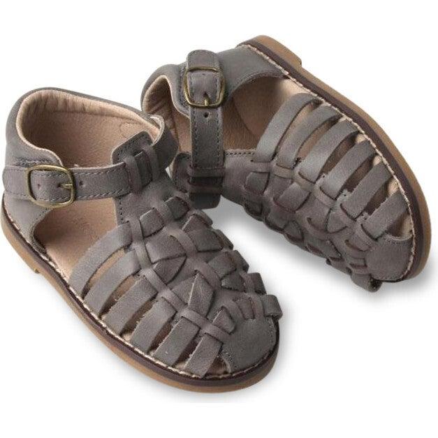 Leather Indie Sandal, Slate