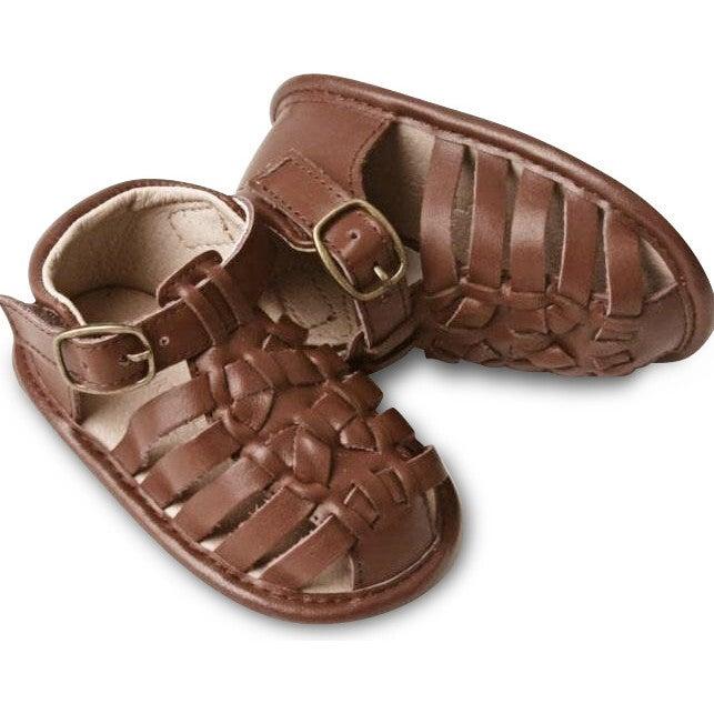 Leather Indie Sandal, Hazelnut