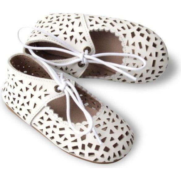 Leather Boho Mary Janes, Cotton