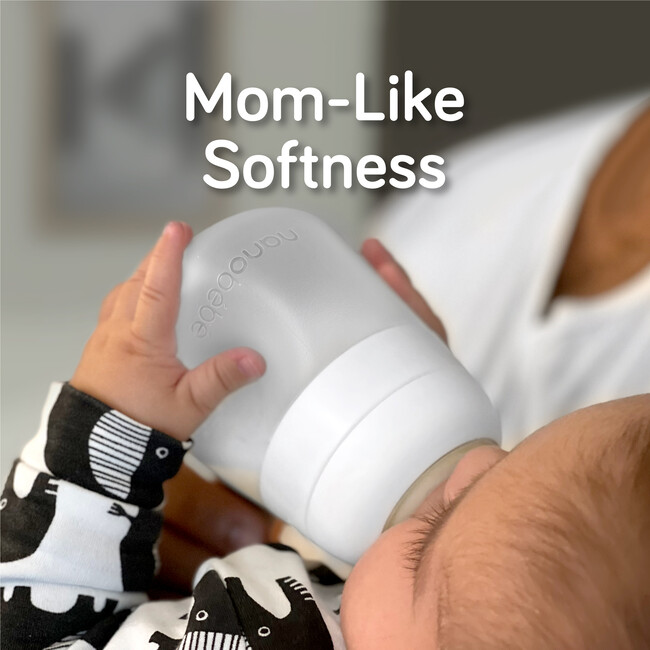 Flexy Silicone Baby Bottle 3 Pack, White