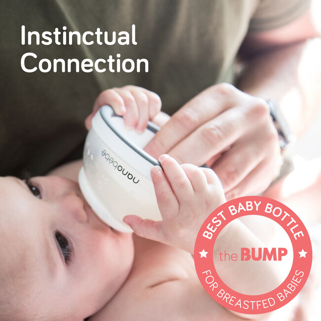 Breastmilk Baby Bottle - Grey, 5 oz.,  3-Pack
