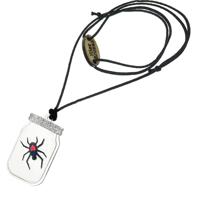 Spider in a Jar Necklace, Black