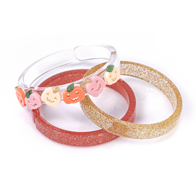 Pumpkin Bracelet Set of 3, Multi - Bracelets - 1