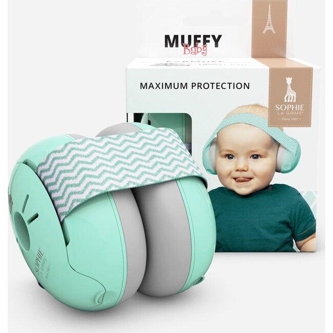 Alpine Baby Ear Muffy, Mint/Grey