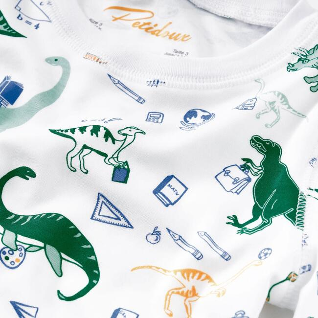 Dino Goes to School Pajama Set, Green