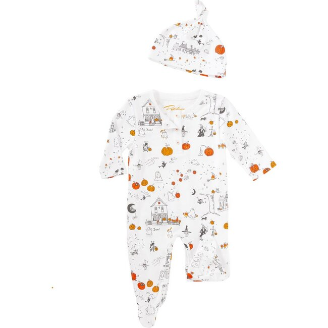 Onesie & Hat Pajamas Set, Trick or Treat Town
