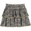Courtney Ruffle Skirt, Faded Black Fun Stripe - Dresses - 1 - thumbnail