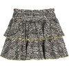 Courtney Ruffle Skirt, Faded Black Fun Stripe - Dresses - 3