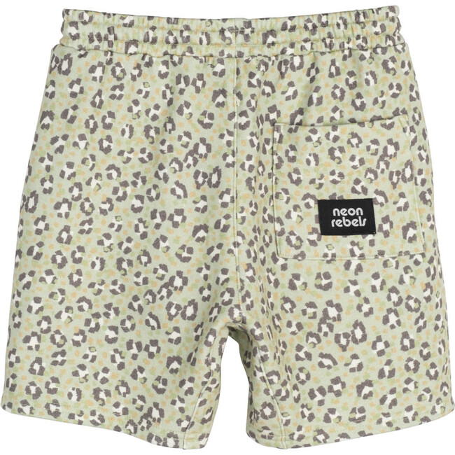 Dash Sweatshorts, Laurel Green Leopard