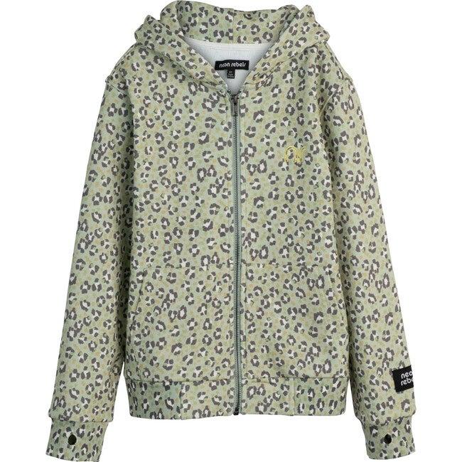 Rowan Sweatshirt Hoodie, Laurel Green Leopard