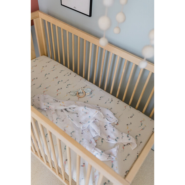 Bug-a-Boo Crib Sheet, Dots Multi